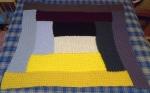 Waffle Stitch Log Cabin Blanket