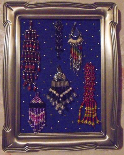 Beaded Earring Collage