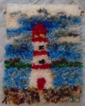 Mini lighthouse rug